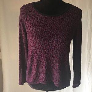IZ Byer long sleeved crochet blouse